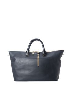 CHLOE Baylee Large Shoulder Bag - Gray / Black. The perfect weekender bag, big enough to hold all your necessities! #trendy