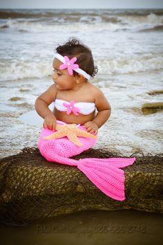 Crochet Girls Mermaid Tail Photography Prop by OhMacy on Etsy, $30.00