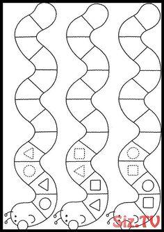 Geometric figures and patterns Preschool Learning Activities, Kindergarten Worksheets, Worksheets For Kids, Preschool Activities, Teaching Kids, Kids Learning, Kindergarten Portfolio, Maternelle Grande Section, Pattern Worksheet