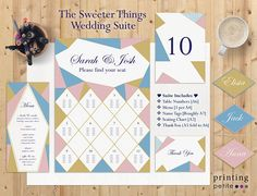 The Sweeter Things Wedding Suite Pastel Geometry Ice Ice Cream Wedding, Wedding Suite, Seating Charts, Spring Wedding, Perfect Wedding, Geometry, Finding Yourself, Stationery, Pastel