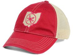 brand new c03e1 f727d J America NCAA Dirty Mesh Adjustable Cap Hats Visors, Ohio State Buckeyes, Caps  Hats