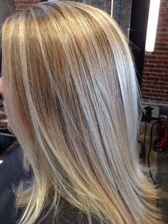 Dimensional blonde glazed with Wella Illumina 10/36 #balayage #wellahair #illumina