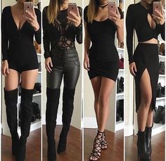 Imagen de dress, black, and shoes