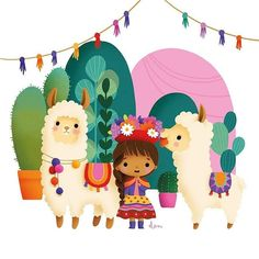 Alpacas, Alpaca Illustration, Children's Book Illustration, Minnie Mouse Birthday Decorations, Llama Birthday, Illustrations, Letter Art, Cute Drawings, Cute Art