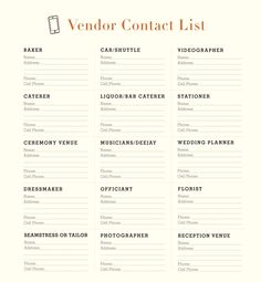 A Montana Wedding A Printable Vendor Contact list Do It Yourself Wedding, Plan Your Wedding, Budget Wedding, Wedding Vendors, Wedding Tips, Wedding Events, Destination Wedding, Weddings, Summer Wedding