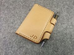 Handmade Moleskine Cover, Moleskine Wallet, Vegetable Tanned Leather, Free Monogramming and Surprise Gift