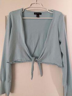 INC Mint Blue Wrap Style Cardigan Size Large   Silk/Rayon #INCInternationalConcepts #Cardigan