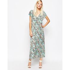 Jarlo Makena Plunge Front Maxi Dress With Exaggerated Frill (£33 ...