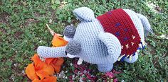 Cute Amigurumi Elephant #free #crochet #pattern #amigurum