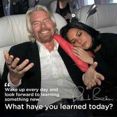 """We present here you will always find the best tips from the World's most famous CEOs. You should do it everyday, but at least today, put it as a MUST to learn something new and then share it with us! """"So, what have you learned today? Development Quotes, Personal Development, Richard Branson Quotes, Learn C, Achievement Quotes, Motivational Quotes, Inspirational Quotes, Leadership Tips, Photo Quotes"""