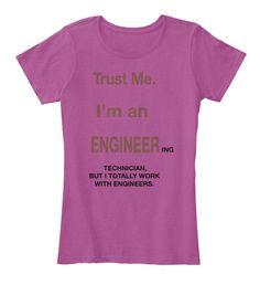 Women's Funny Engineering Pink Raspberry T-Shirt via @teespring teespring.com/engineerly  $22.99