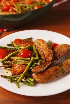 One Pan Balsamic Chicken And Asparagus Vertical