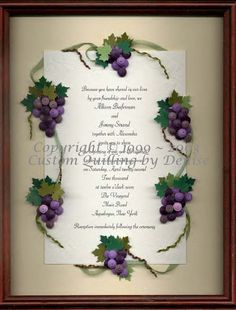 Grapes quilled border