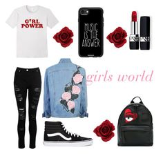 """""""girls calual style"""" by imabrahamzrt on Polyvore featuring moda, Casetify, Christian Dior, Vans, Chiara Ferragni, rose, CasualChic y rebeld"""