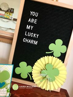 Patrick's Day Letter Board You are my lucky charm with die cut embellishments Patricks day letterboard How to Make St. Patrick's Day Decorations and Letter Board with Die Cuts St Patricks Day Pictures, St Patricks Day Quotes, How To Make Decorations, St Patrick's Day Decorations, Letterboard Signs, Word Board, Quote Board, Quote Wall, Make My Day