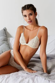 4bf718585f7843 Out From Under Lace Triangle Bralette. Urban Outfitters