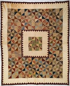 Quilt - Isabella Spence, Patchwork, Scotland, 1840s-1850s