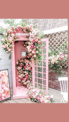 Cafe Interior Design, Cafe Design, Store Design, Flower Aesthetic, Pink Aesthetic, Pretty In Pink, Beautiful Flowers, Flower Shop Design, Flower Phone Wallpaper