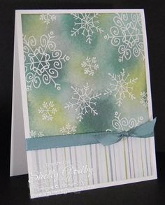 Last year I wasn't the only one to fall in love the with cute snowflakes from the Stampin' Up! Endless Wishes Stamp Set. So glad to see it's back for anyone who missed ordering it.  Order Endless Wishes in my online store http://www.shopwithshelly.com.