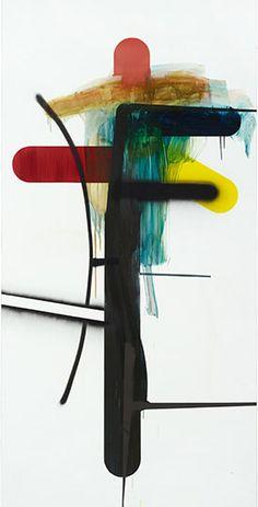 Albert Oehlen, Woods Near Oehle, Cleveland Museum of Art, Baumbilder, Oil On Dibond