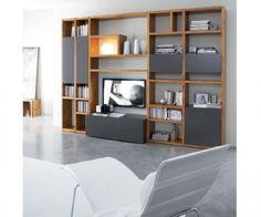 FGF Mobili Luxus Wohnwand C92B aus Parawood