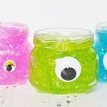monster glitter slime halloween party treat craft idea -- sensory idea for monster week Halloween Party Treats, Halloween Class Party, Halloween Favors, Halloween Crafts For Kids, Halloween Fonts, Easy Halloween, Holiday Crafts, Monster Party, Monster Birthday Parties
