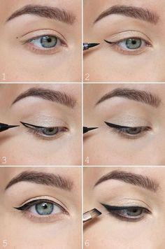 Eyeliner-tutorial: pisteet avuksi rajauksen tekoon
