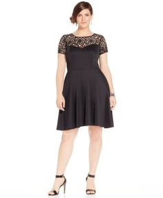 8ed052fa68ea Trixxi Plus Size Illusion Skater Dress & Reviews - Dresses - Plus Sizes -  Macy's