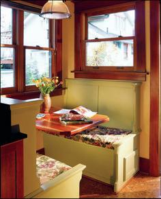 Lauryn And Dennis Humble Kitchen Makeover Photos - Craftsman bungalow kitchen breakfast nooks