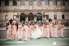 Wedding at The Boston Public Library | Zev Fisher Photography The #Bride with her #Bridesmaids #BostonWeddingPhotographers #BostonWeddingPhotography #BostonBridal