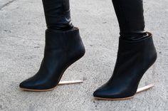 H&M h maison martin margiela invisible plexi clear wedge boots 40 - Dresses