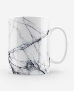 Cracked White Marble Mug by Madotta - R