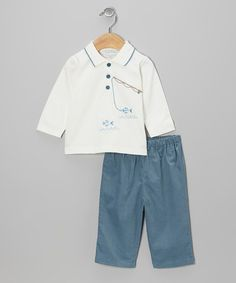 e627a811716 Take a look at this Blue Fish Top  amp  Pants - Infant by Boutique  Collection