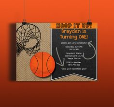 Instant Download Basketball Sports Hoops Court DIY Invitation by DoucetteDesign, $4.50