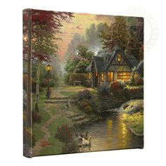 Thomas Kinkade  Gallery Wrapped Canvas  Stillwater Cottage  14 x 14  56888 >>> You can find more details by visiting the image link. (This is an affiliate link)