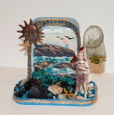 "Altered Altoid Tin Assemblage Art ""Souvenirs"""