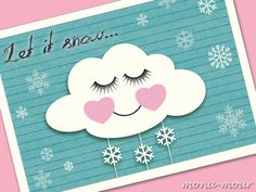 3 Postkarten Let it snow... ❄ Co2neutral von mOna-mour  auf DaWanda.com