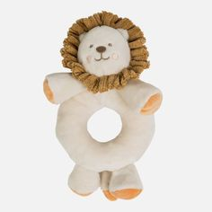 Fun, cuddly rattle toy with an ergonomic shape which helps your baby to hold and play with it with ease. Teddy Bear, Beige, Shapes, Christmas Ornaments, Lew, Toys, Holiday Decor, Baby, Animals