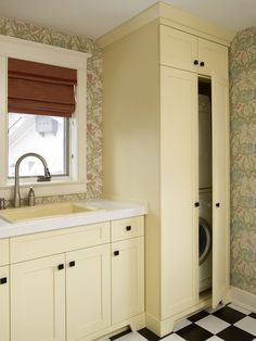 how to hide a stacked washer and dryer - Google Search