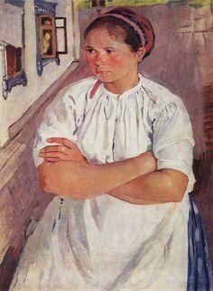 Портрет няни. 1908-09. Зинаида Серебрякова (1884-1967)