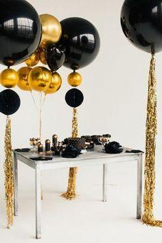 Gold-Orb-Black-Big-Balloon-Garland-Baby-Shower-Party юбилей в 2019 г. 21 Balloons, Giant Balloons, Wedding Balloons, Baby Shower Balloons, Balloon Garland, Balloon Decorations, Balloon Ideas, Baby Balloon, Black And Gold Balloons