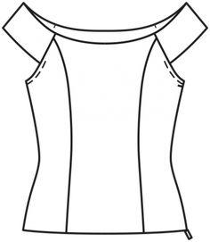 Corset Sewing Pattern, Skirt Patterns Sewing, Blouse Patterns, Clothing Patterns, Blouse Designs, Costura Fashion, Kids Dress Wear, Kurti Embroidery Design, Womens Trendy Tops