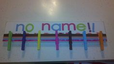 Cute No Name Paper Holder/ I love this idea of hanging up papers that have missing names!!!!!