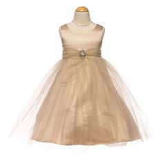 A Day to Remember Tulle Girl Dress in Champagne