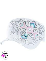 White Aztec Cross Cadet Hat $14.99 Divalicious