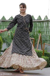 Indian Bollywood Designer kurta with dupatta pant Kurti women ethnic dress-md12