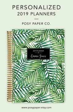 Posy Paper Co Choose Your Start Month - Lavender Marble 2020 Personalized Weekly and Monthly Planner 6 x 9