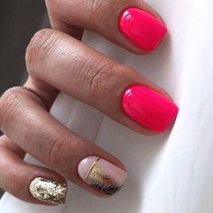 Nail art Christmas - the festive spirit on the nails. Over 70 creative ideas and tutorials - My Nails Square Acrylic Nails, Cute Acrylic Nails, Acrylic Nail Designs, Nail Art Designs, Short Nail Designs, Square Nails, Gorgeous Nails, Love Nails, Pink Nails