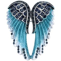 Szxc Jewelry Women's Crystal Angel Wings Pin Brooches Pendants ($12) ❤ liked on Polyvore featuring jewelry, crystal jewelry, crystal pendant jewelry, angel wing pendant, crystal jewellery and crystal stone jewelry