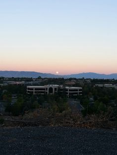Moonset in the west
